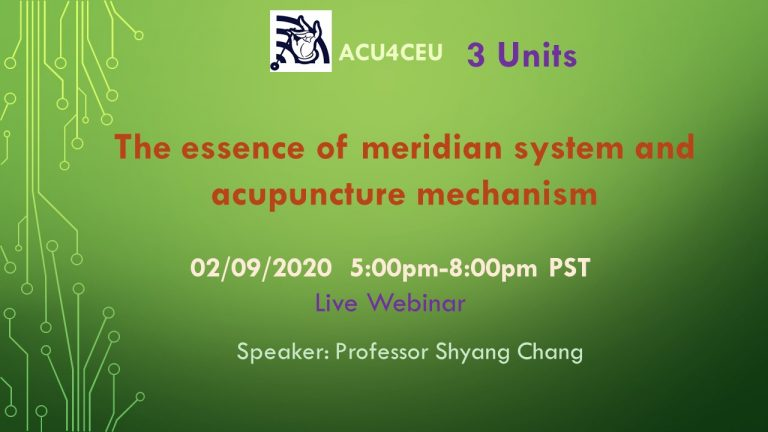 The essence of meridian system and acupuncture mechanism (W)