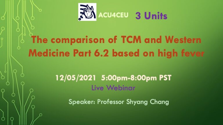 The comparison of TCM and Western Medicine Part 6.2  therapeutics of high fever (W)